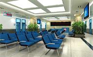 北京癫痫病医等候厅舒适的坐椅